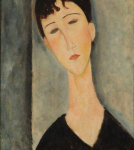 """Retrato de una mujer joven"""". Amedeo Modigliani,"""